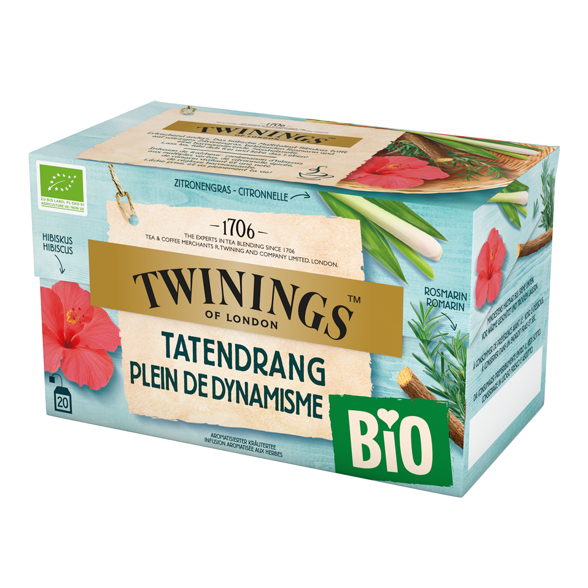 Twinings Bio Plein de Dynamisme 34g