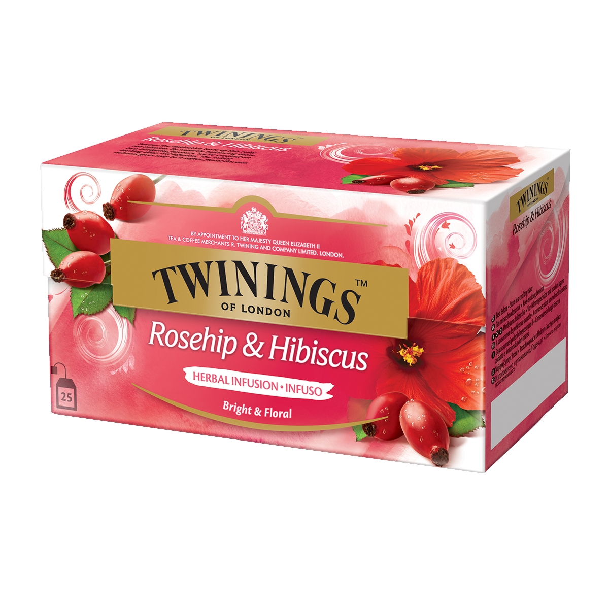 Twinings Hagenbutte & Hibiskus 25 x 2.5 g