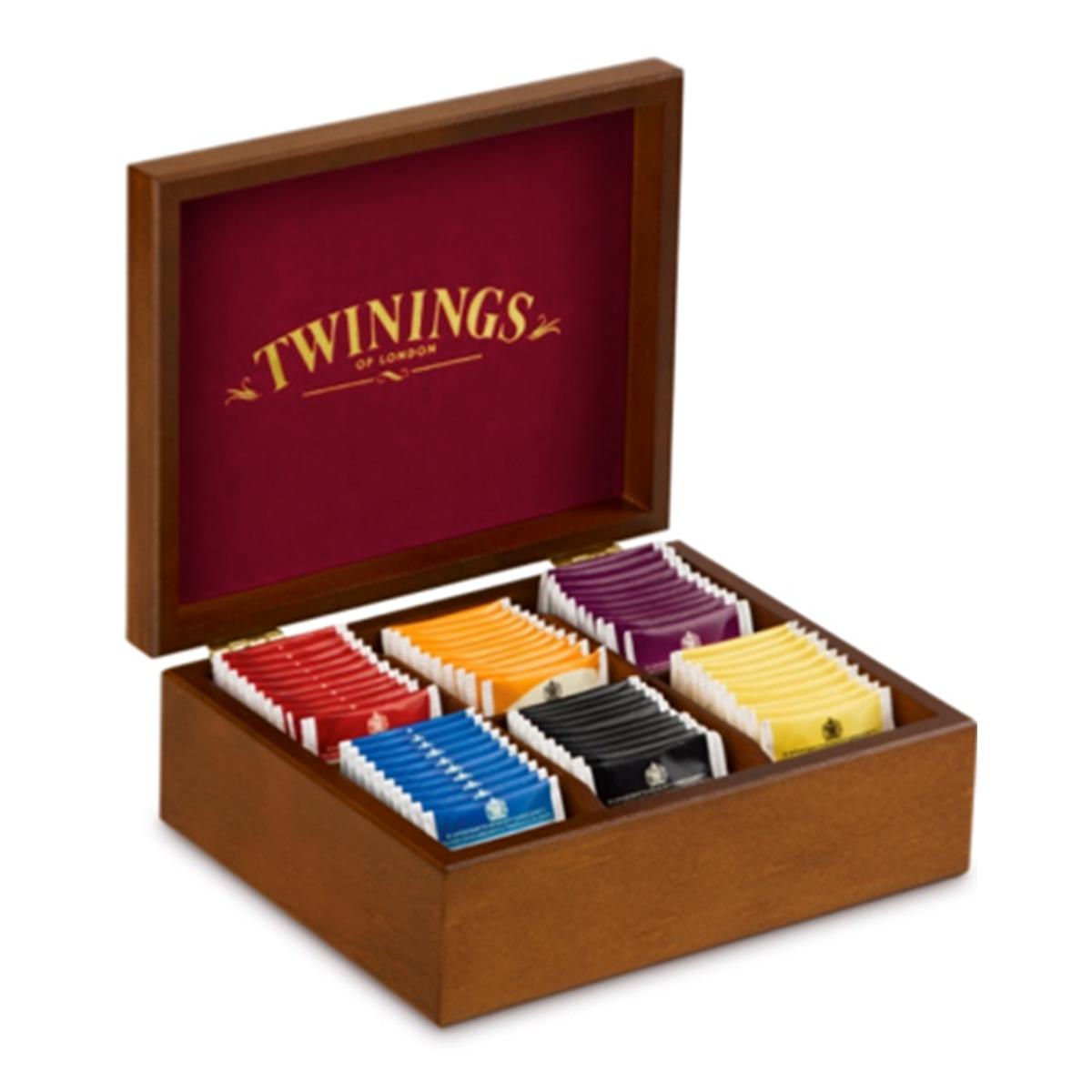 Twinings Holzbox «Schwarztee» 6 x 2 x 5 x 2 g