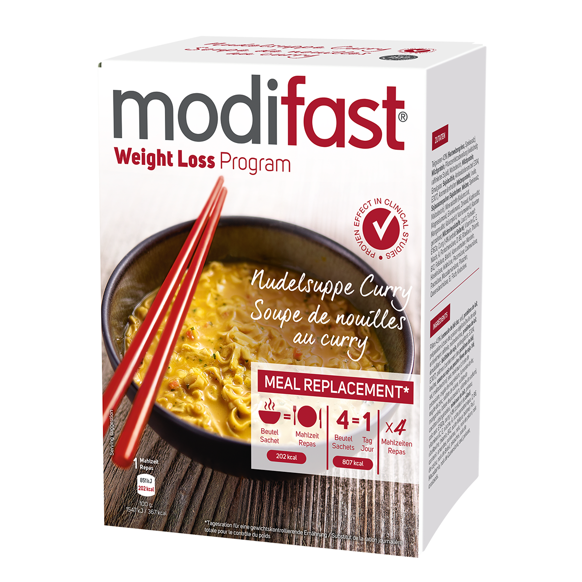 Modifast Nudelsuppe Curry 4 x 55 g