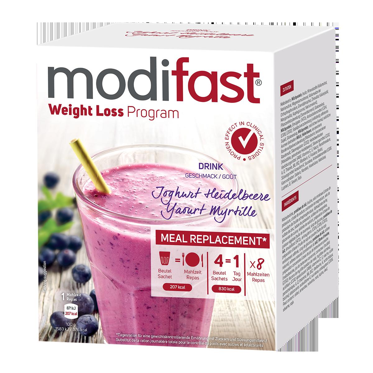 Modifast Drink Joghurt Heidelbeere 8 x 55 g